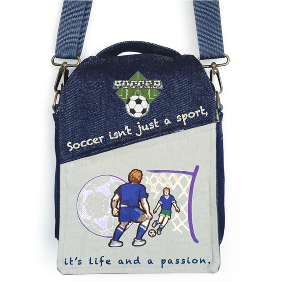 "CANVAS MESSENGER BAG ""Soccer is Life"""