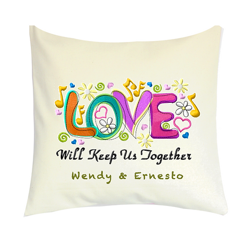 COJINES PERSONALIZADOS LOVE Will Keep Us Together