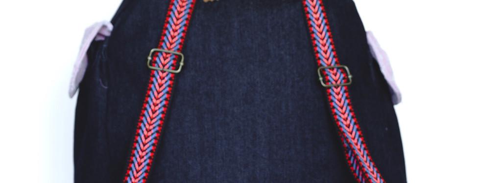 Vista posterior de la bolsa.