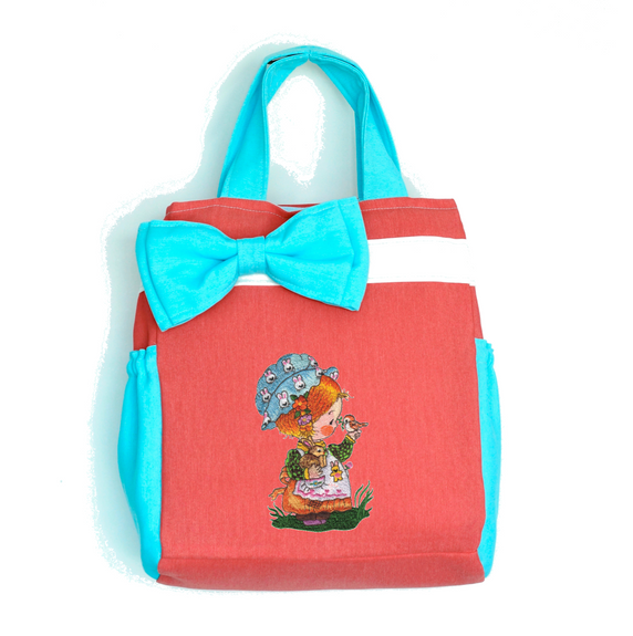 "THE BEAUTIFUL HANDBAG ""Girl with Furry Friends"""