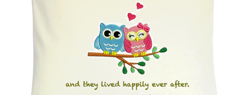 """Cojín Personalizado Modelo """"Owls in Love"""""""