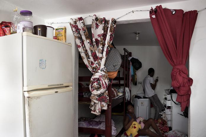 O pequeno cômodo que a família morou nos primeiros anos no Brasil.