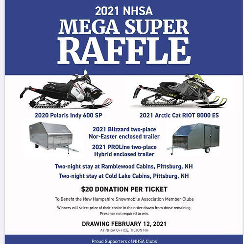 2021 NHSA Super Raffle Ticket