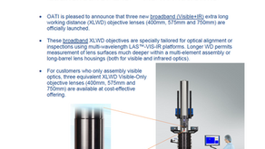 Three New Broadband XLWD Objective Lenses Launched