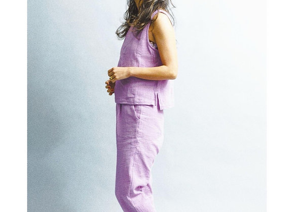 Double Gauze Cotton Tapered Pants