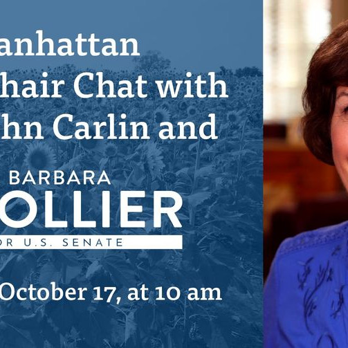 Lawn Chair Chat with Dr. Barbara Bollier and former governor John Carlin