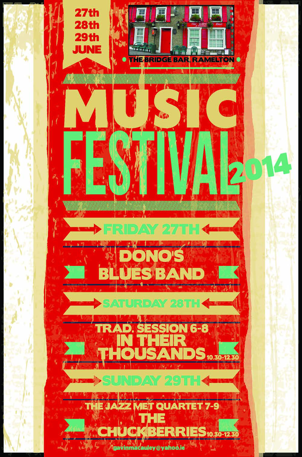Bridge Bar Festival Poster