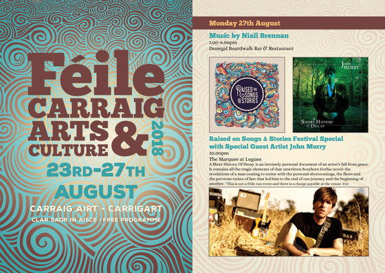 Féile Carraig Arts & Culture Festival Special with Special Guest Artist John Murry