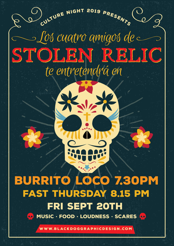 Stolen Relic Gringoes Go Mexican for Culture Night 2019