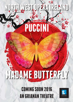 North West Opera M Butterfly Poster