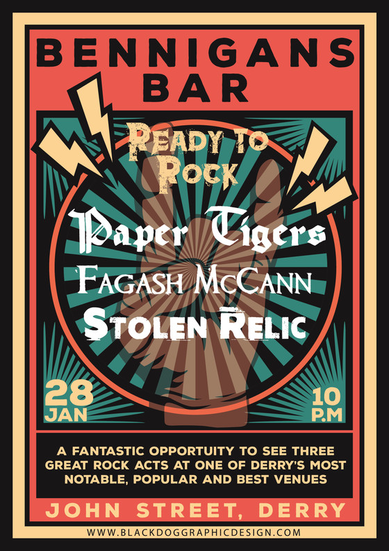 Stolen Relic Kick Off 2020 at Bennigans, Derry, Tues 28 Jan