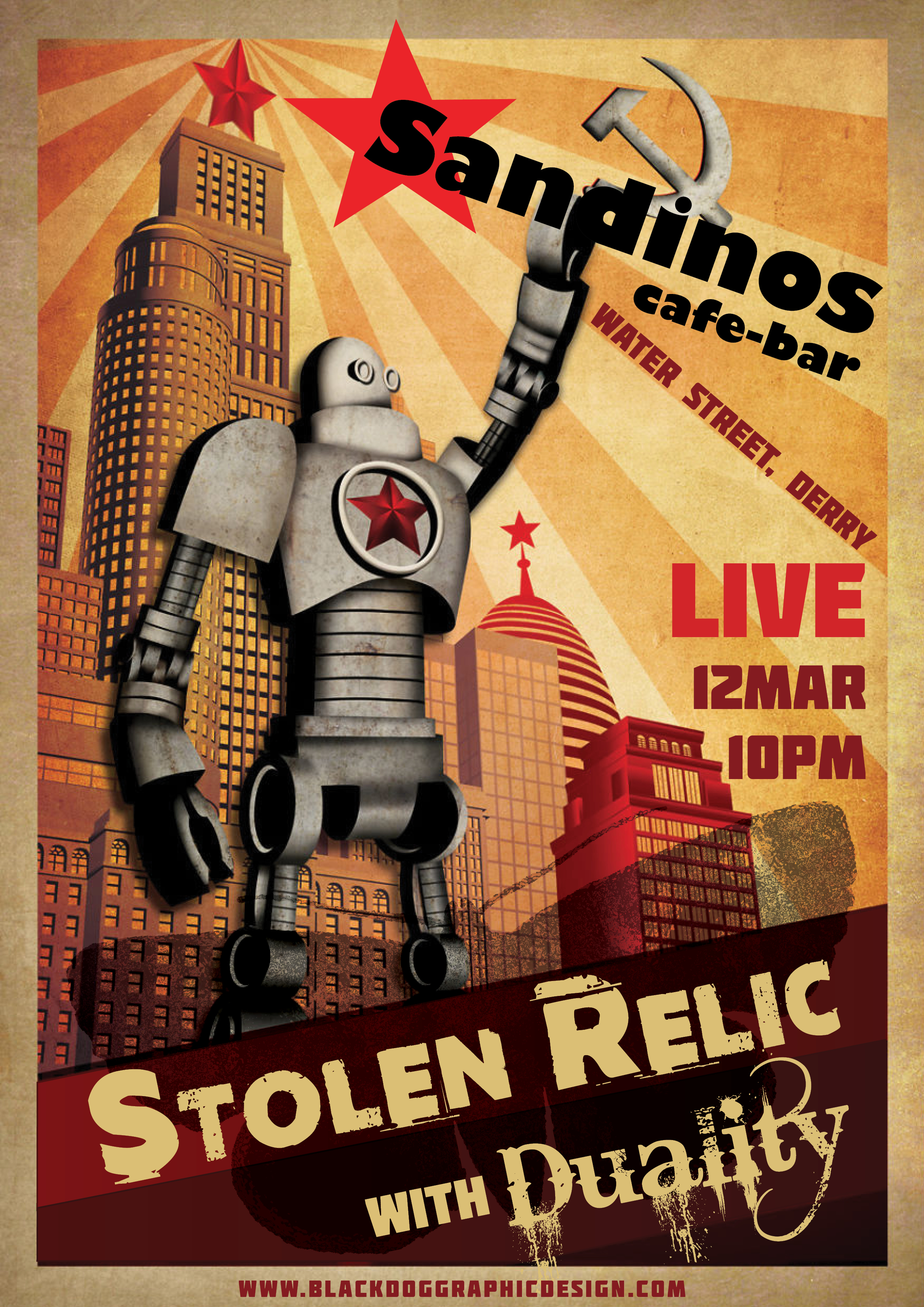 Sandinos Bar Poster