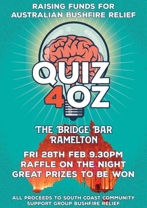 Quiz 4 Oz - Bridge Bar, Ramelton, Fri 28th
