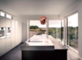 nordisk arkitektur, arkitekttegnet tegnet køkken, modern arkitekttegnet , arkitektur i naturen, store glaspartier