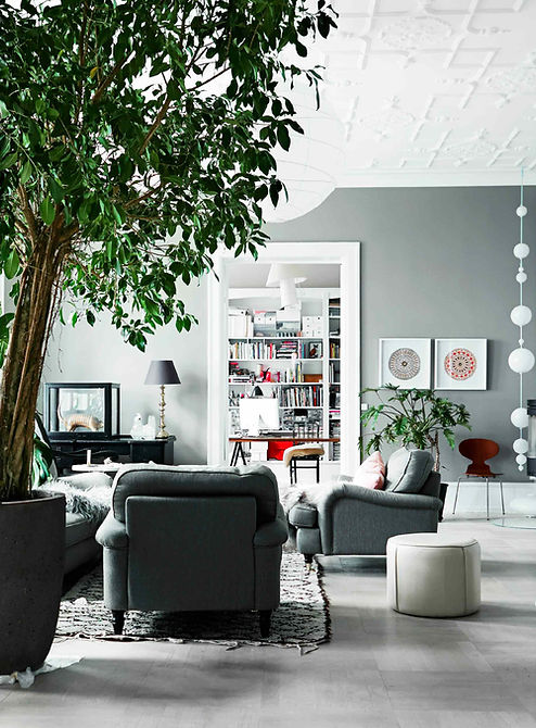 Cool lys nordisk bolig, renovering af lejlighed, smuk stuk