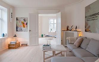 nordisk boliger, lejlighed med sjæl, dinesen trægulv