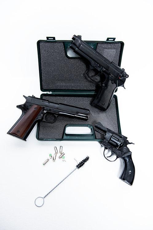 Pistola blank fire (a salve)