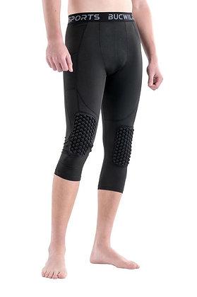 BUCWILD® Pantalones de compresión con rodilleras