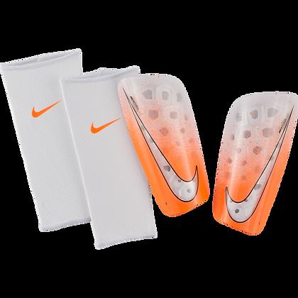 NIKE® Canillera Mercurial Lite - Blanco y naranja