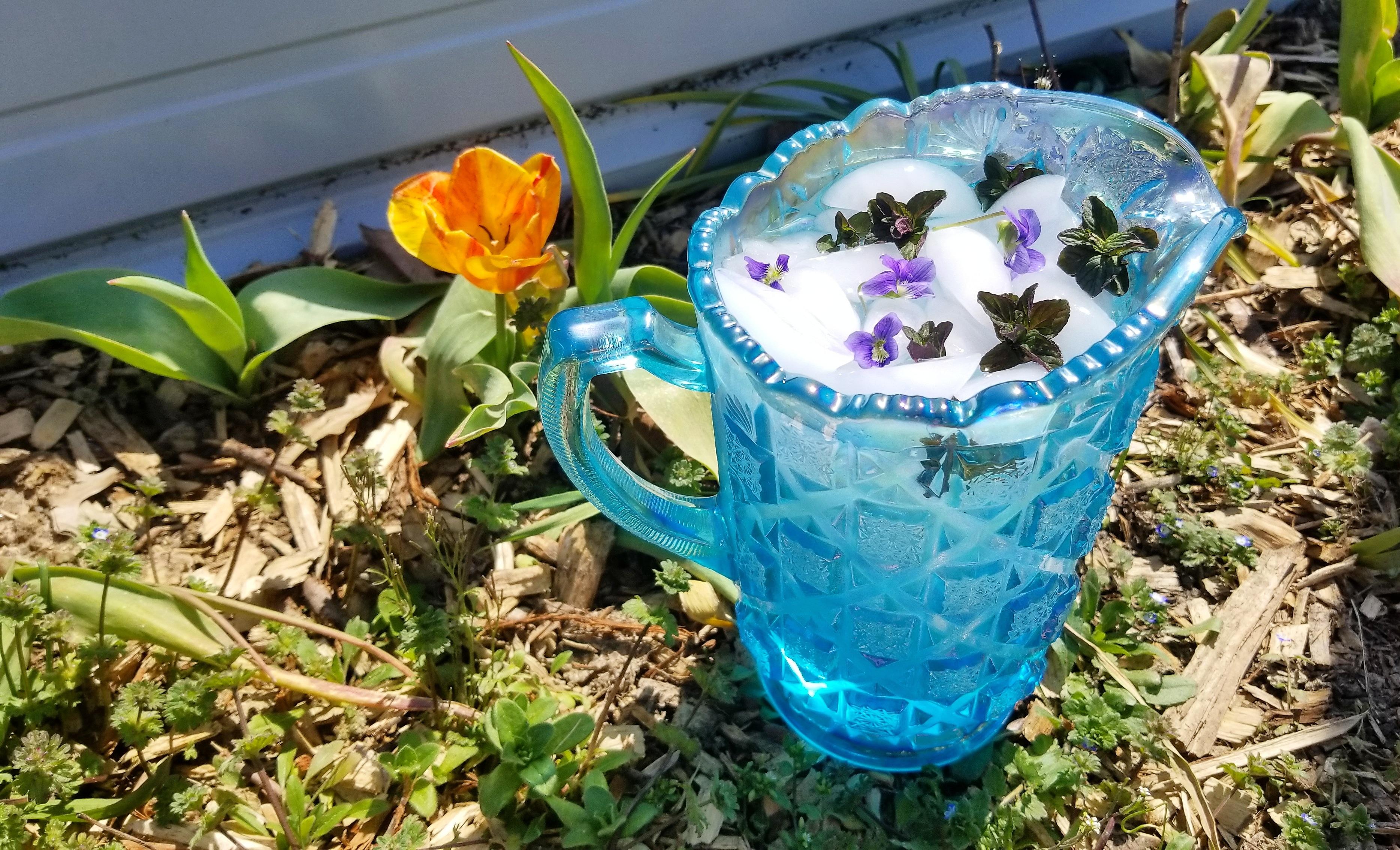 Mint Violet Garden Water