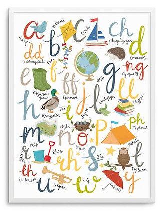 Outdoor Adventure Welsh Alphabet print by Megan Tucker