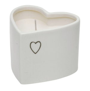 Evie heart shape candle in pot
