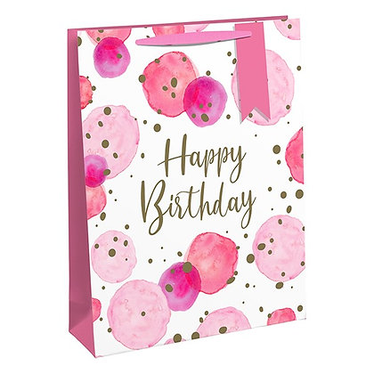 Pink Happy Birthday Gift bag - 2 sizes available