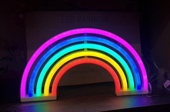 LED neon look Rainbow decoration