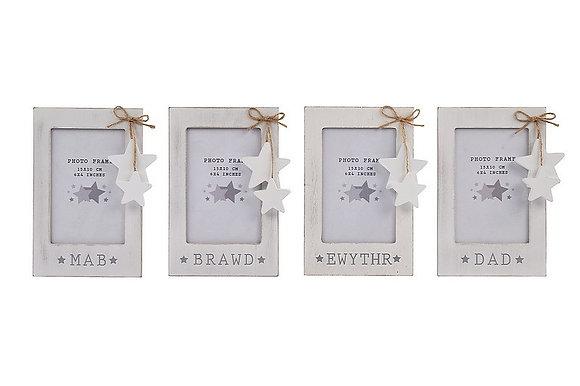 Welsh family frame - Dad, Mab, Ewythr, Brawd