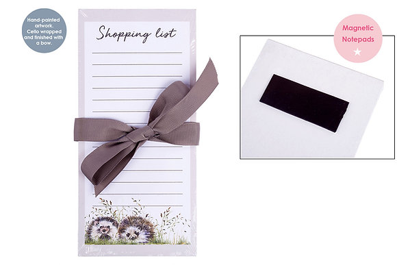 Hedgehog Magnetic Note Pad - Shopping List