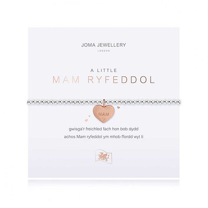 Joma Jewellery A LITTLE MAM RYFEDDOL (WONDERFUL MUM)BRACELET   WELSH