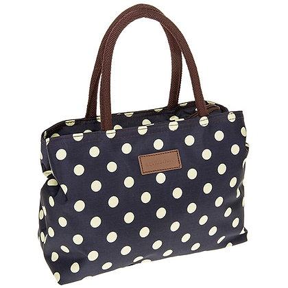 Spots Waterproof Handbag Navy  and Cream