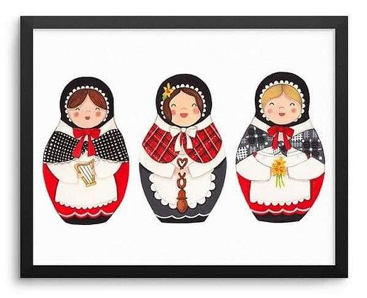Megan Tucker's Ladis Cymreig/Welsh Ladies Print