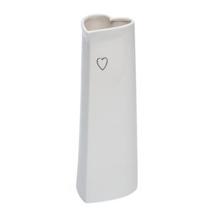 Evie Tall  ceramic heart vase