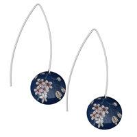 Kate HH Studio Jasmine Long Disc Earrings