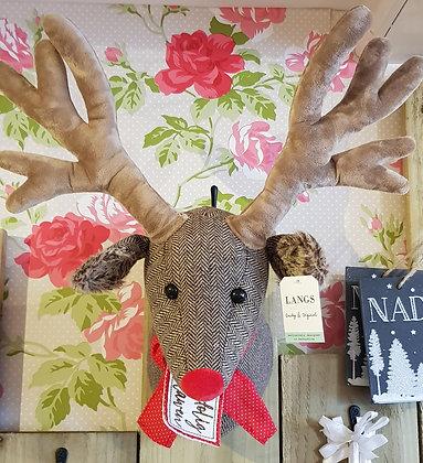 Welsh Nadolig Llawen Reindeer head