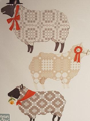 Welsh Sheep Best In Show Print by Megan Tucker