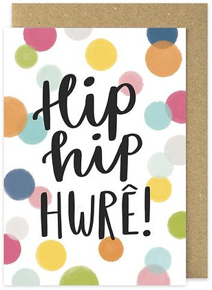 Hip Hip Hwre/Hip Hip Hooray card