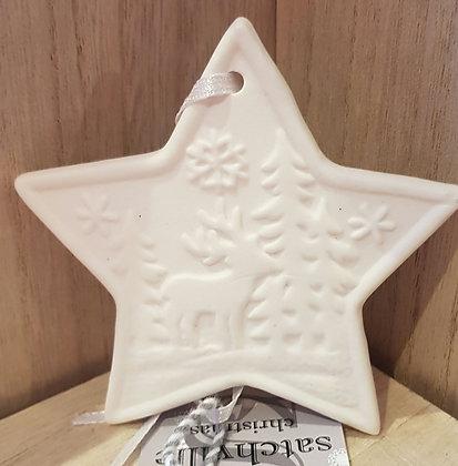 Star Hanger Reindeer Scene 7 cm  Approx