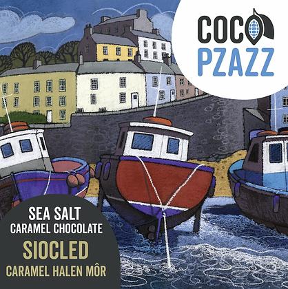 Coco Pzazz -Siocled Caramel Halen Mor / Sea Salt Caramel Chocolate Bar 80g