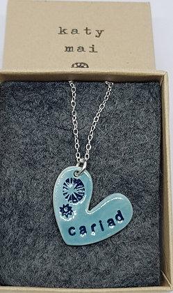 Katy Mai - Mwclis Cymraeg / Welsh Necklace - Cariad (Love)