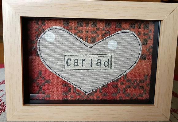 Chwaethus - Melin Tregwynt frame Cariad (Love) Orange