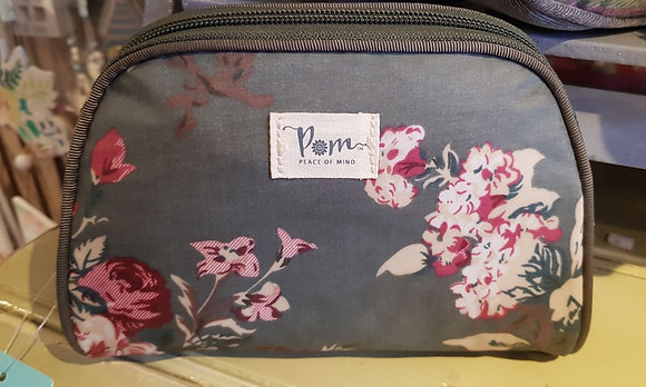 POM Green Botanical Print Make-Up Bag