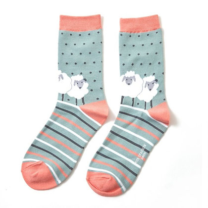 Miss Sparrow Sheep Friends Socks - choice of 2
