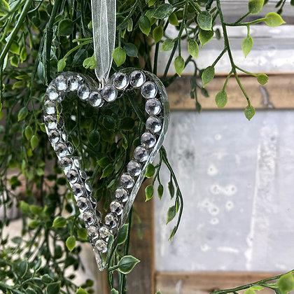 Crystal heart hanger