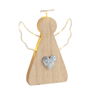 LED wooden angel with light up wings