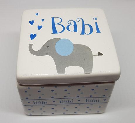Elephant trinket box - Babi (Baby)