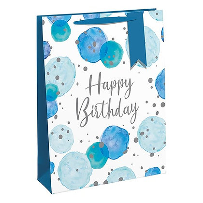 Blue Happy Birthday Gift bag - 2 sizes available
