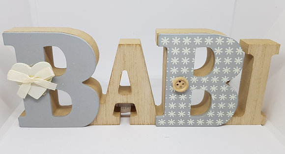 """Babi"" (Baby) Welsh word block"