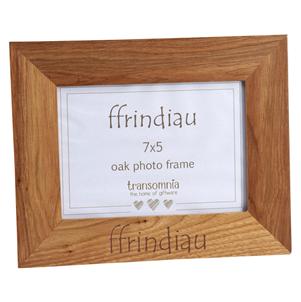 """Ffram Ffoto Derw """"Ffrindiau"""" Oak Photo Frame"""